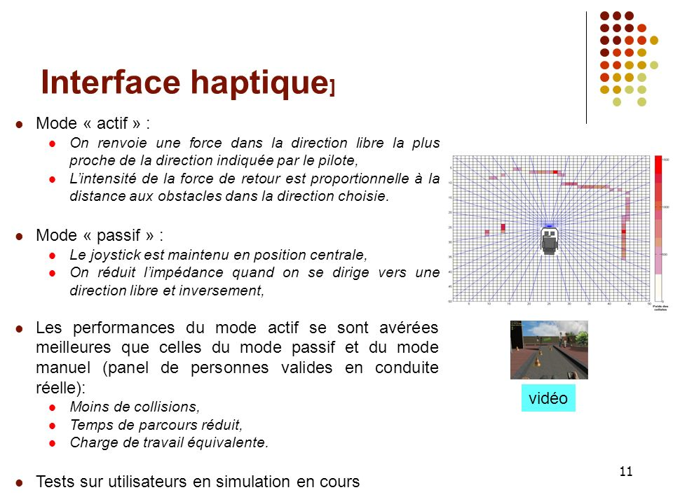 Interface haptique] Mode « actif » : Mode « passif » :